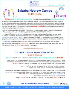 flyer_Sababa Hebrew camp2014