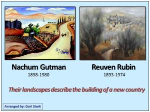 Nahum Gutman - Reuven Rubin - Tel Aviv
